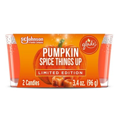 Glade Candle Pumpkin Spice Things Up - 2pk/3.4oz