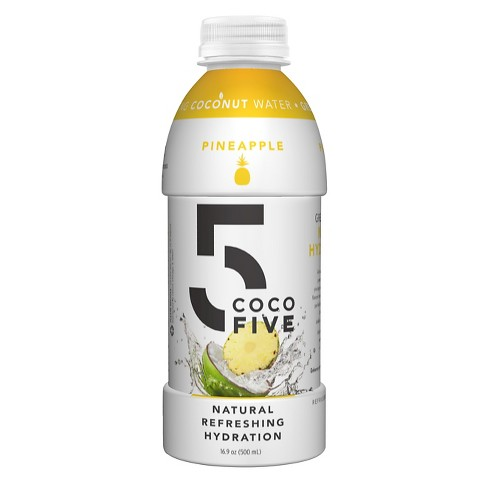 COCO5 All Natural Coconut Water- Pineapple Flavor - 16 fl oz Bottle - image 1 of 1