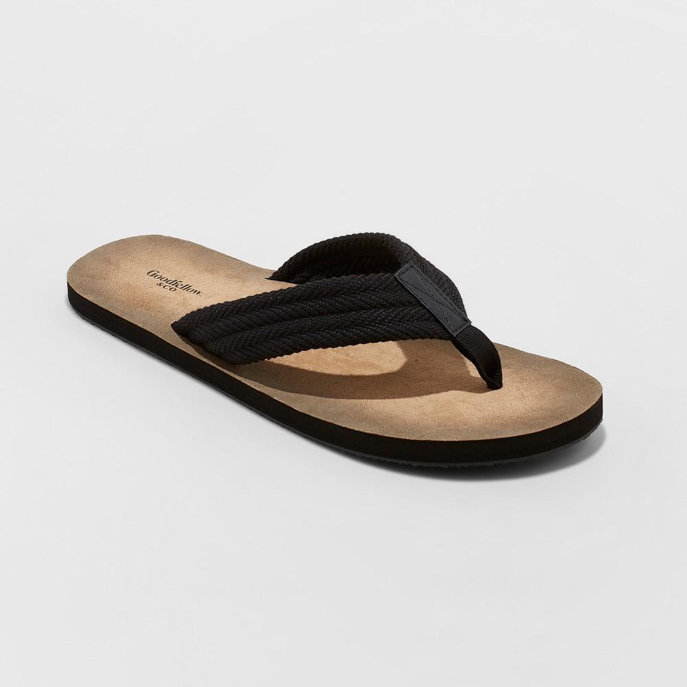 Men's Remington Flip Flop Sandals - Goodfellow & Co Black XL(13), Size: XL (13)