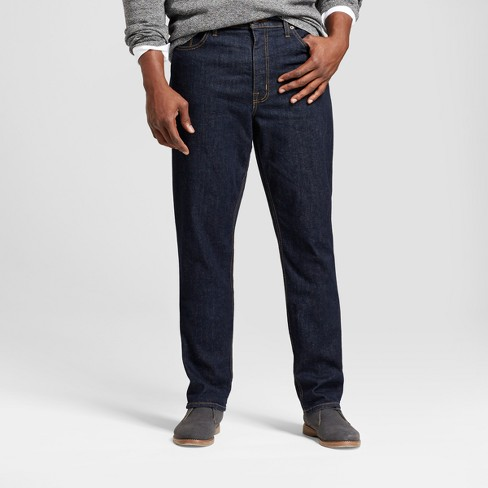 Men's Big & Tall Athletic Fit Jeans - Goodfellow & Co™ Dark Blue - image 1 of 5
