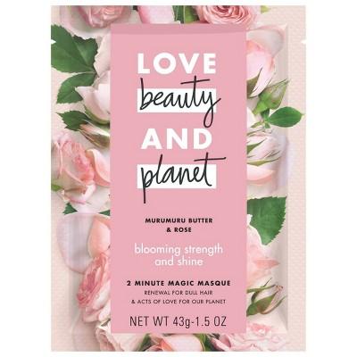 Love Beauty & Planet Murumuru Butter & Rose Blooming Strength & Shine 2 Minute Magic Masque - 1.5 fl oz