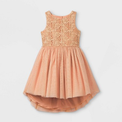 Mia & Mimi Girls' Rosette Tulle Dress - Pink