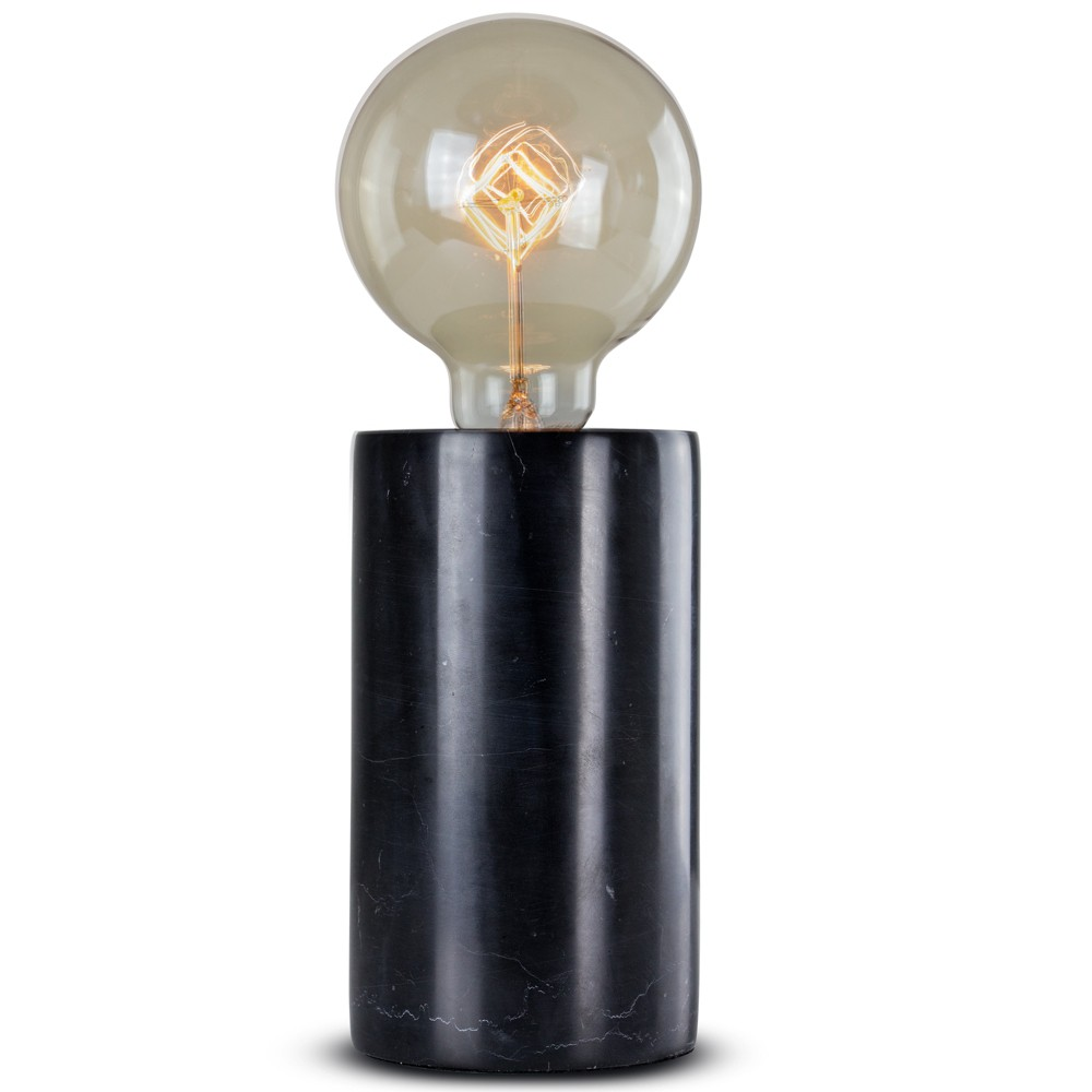 "Image of ""10.5"""" Marble Table Lamp Black - Crystal Art"""