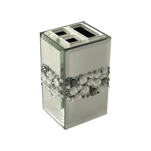 Harlow Tooth Brush Holder Light Silver - Elegant Home Fashions - image 1 of 1