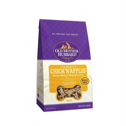 Old Mother Hubbard Wheat Free Classic Crunchy Chick'N'Apples Biscuits Mini Oven Baked Dog Treats - image 1 of 4