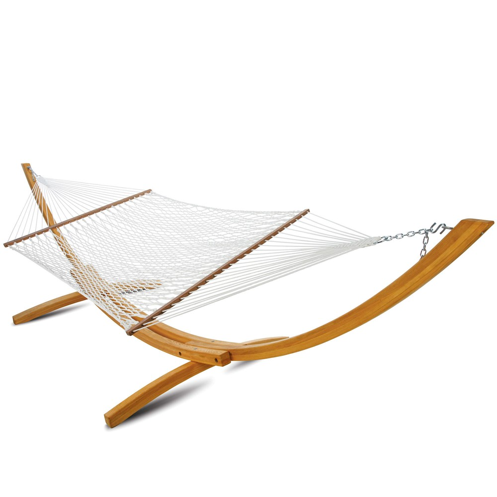 "Image of ""Large Polyester 55"""" Rope Hammock - White - Hatteras Hammocks"""