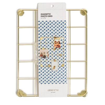 Locker Large Gold Hanging Grid - U Brands