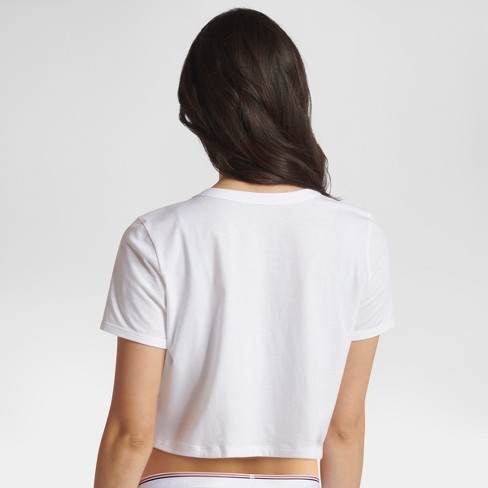 57f3a77400 JKY® By Jockey Women's Retro Vibes Cropped T-shirt - White XL : Target