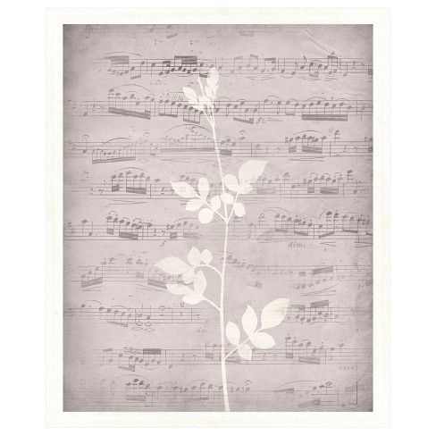 Music Leaves I 18X22 Wall Art - image 1 of 1