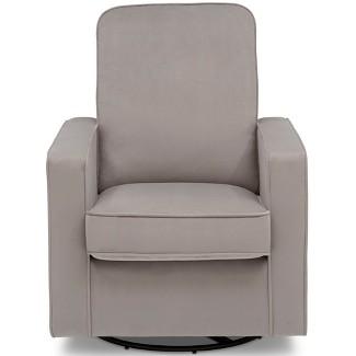 Delta Children Landry Nursery Glider Swivel Rocker Chair - Cloudy Gray