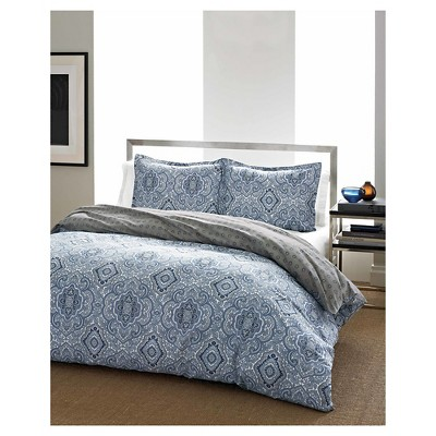 Duvet Cover Set Eddie Bauer KING Blue