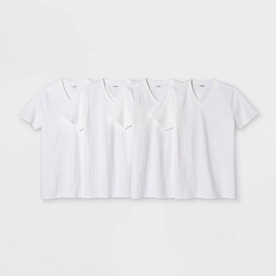 Men's 4pk V-Neck T-Shirt - Goodfellow & Co™ White