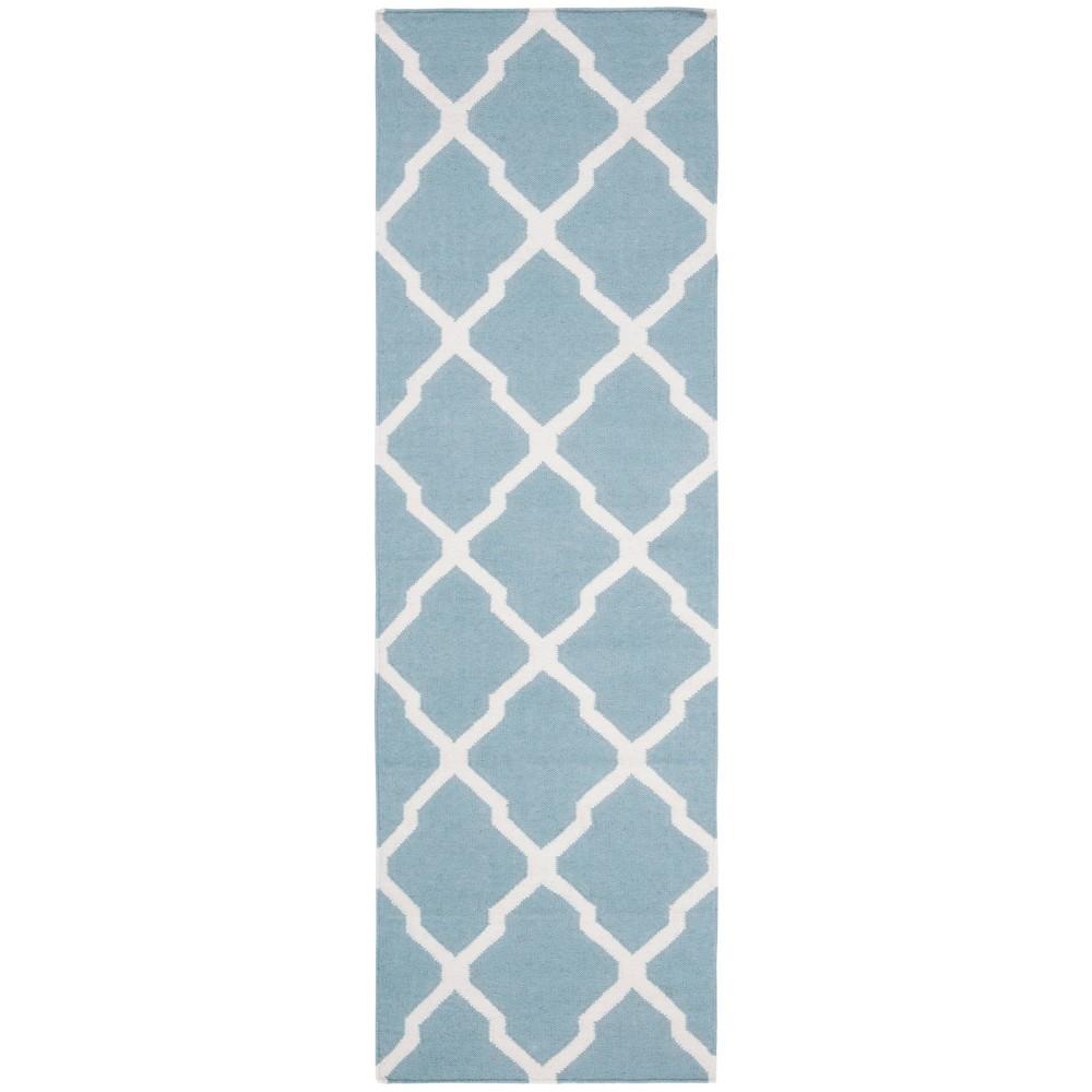Taza Dhurry Rug - Light Blue/Ivory - (2'6x8') - Safavieh