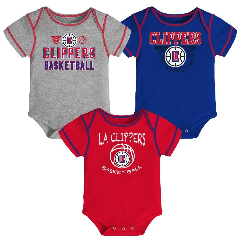 Nba Los Angeles Clippers Baby Boys 39 Onesies Bodysuit 3pk 0 3m