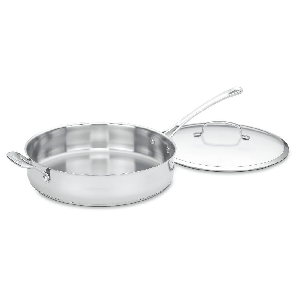 Cuisinart Contour Stainless Steel 5 quart Sauté Pan - 433-30H, Silver
