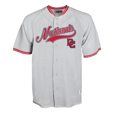 MLB Washington Nationals Men's Gray Retro Team Jersey - XXL