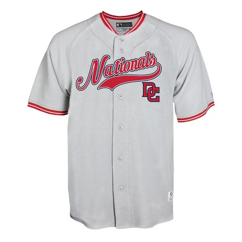 3ee88915021 MLB Washington Nationals Men s Gray Retro Team Jersey   Target