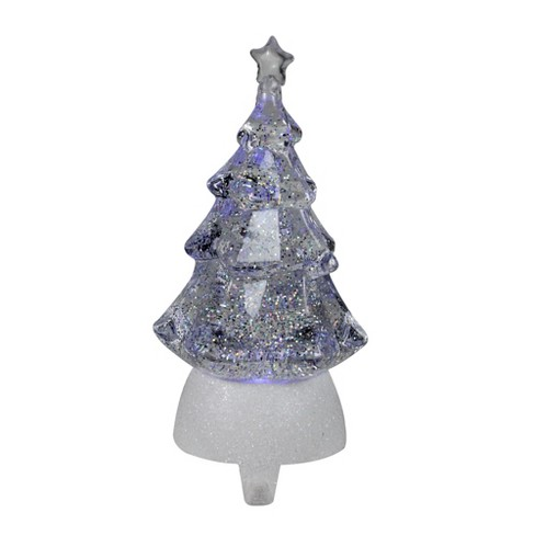 Christmas Tree Stocking Holder.Roman 9 5 Clear Led Glitter Swirl Christmas Tree Stocking Holder