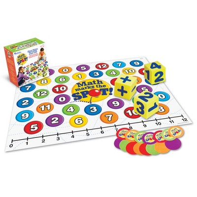 Learning Resources Math Marks The Spot Floor Game, Number Recognition, Addition & Subtraction, Ages 5+