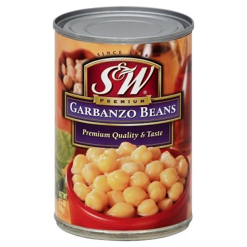 S&W Beans Garbanzo Beans - 15.5 oz - image 1 of 1