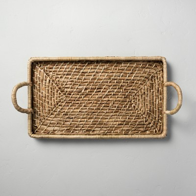 Woven Rectangular Serve Tray with Handles - Hearth & Hand™ with Magnolia