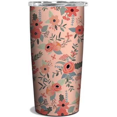 OCS Designs 17oz Stainless Steel Tumbler Secret Garden Floral Pink