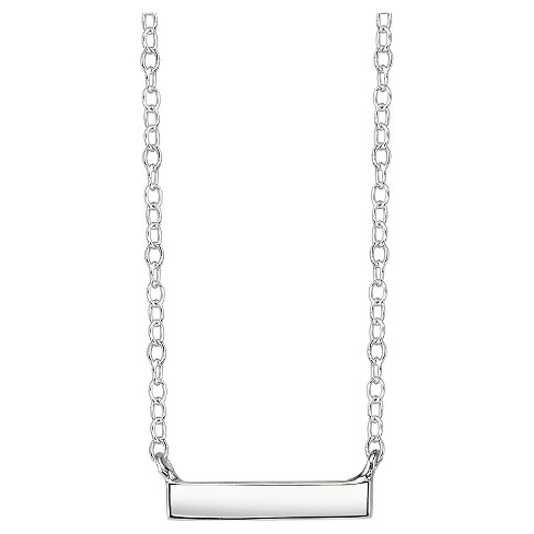"Sterling Silver Bar Station Necklace - 18"" - image 1 of 2"