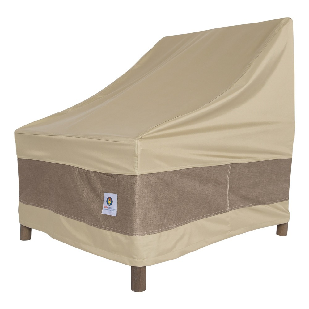 """Image of """"36""""""""W Elegant Patio Chair Cover Coffee - Classic Accessories, Brown"""""""