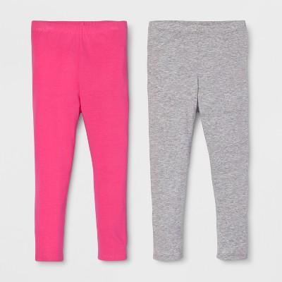 Toddler Girls' 2pk Leggings Set - Cat & Jack™ Pink/Heather Gray