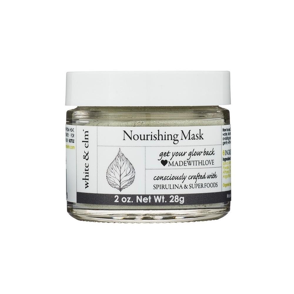 Unscented White & Elm Spirulina Green Superfood Nourishing Mask - 2oz