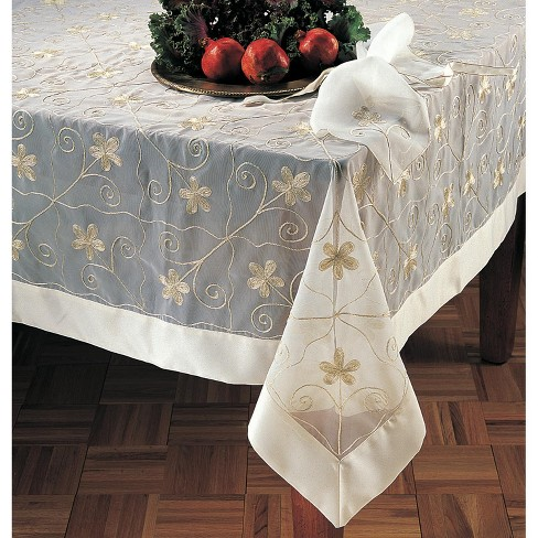 Saro Lifestyle Sheer Embroidered Square Tablecloth - image 1 of 1