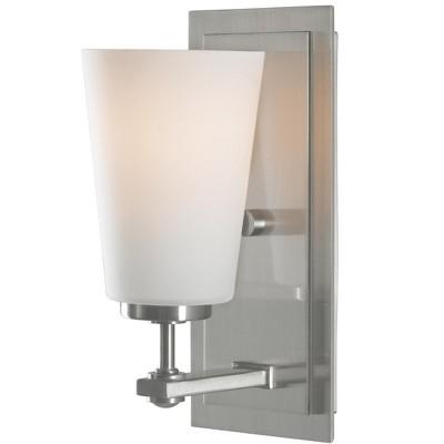 "Sea Gull Lighting Sunset Drive 1-Light 5"" Wall / Bath Vanity, Brushed Steel VS14901-BS"
