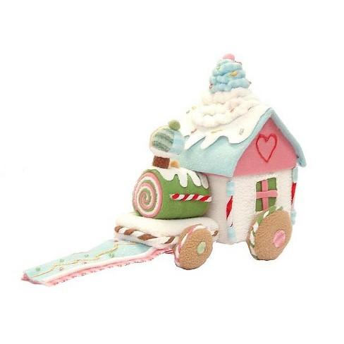 Christmas Candy Train.Gca International 10 Glittery Pastel Plush Christmas Candy Train 16295