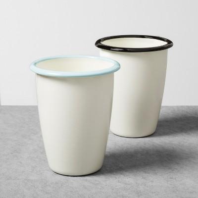 Enamel Cup 16oz Set of 2 - Black/Blue - Hearth & Hand™ with Magnolia