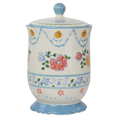 Gibson Elite Anaya Ceramic Canister with Lid in Floral