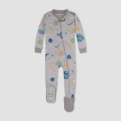 Burt's Bees Baby® Baby Boys' Space Snug Fit Footed Pajama - Heather Gray 3-6M