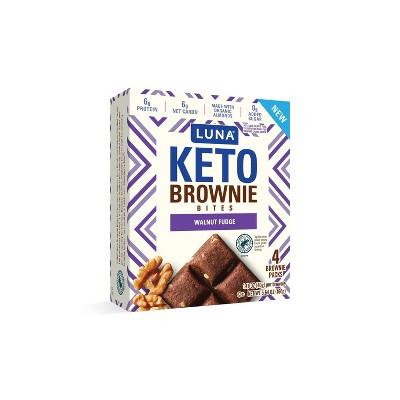Luna Keto Brownie Bites Walnut Fudge - 4pk