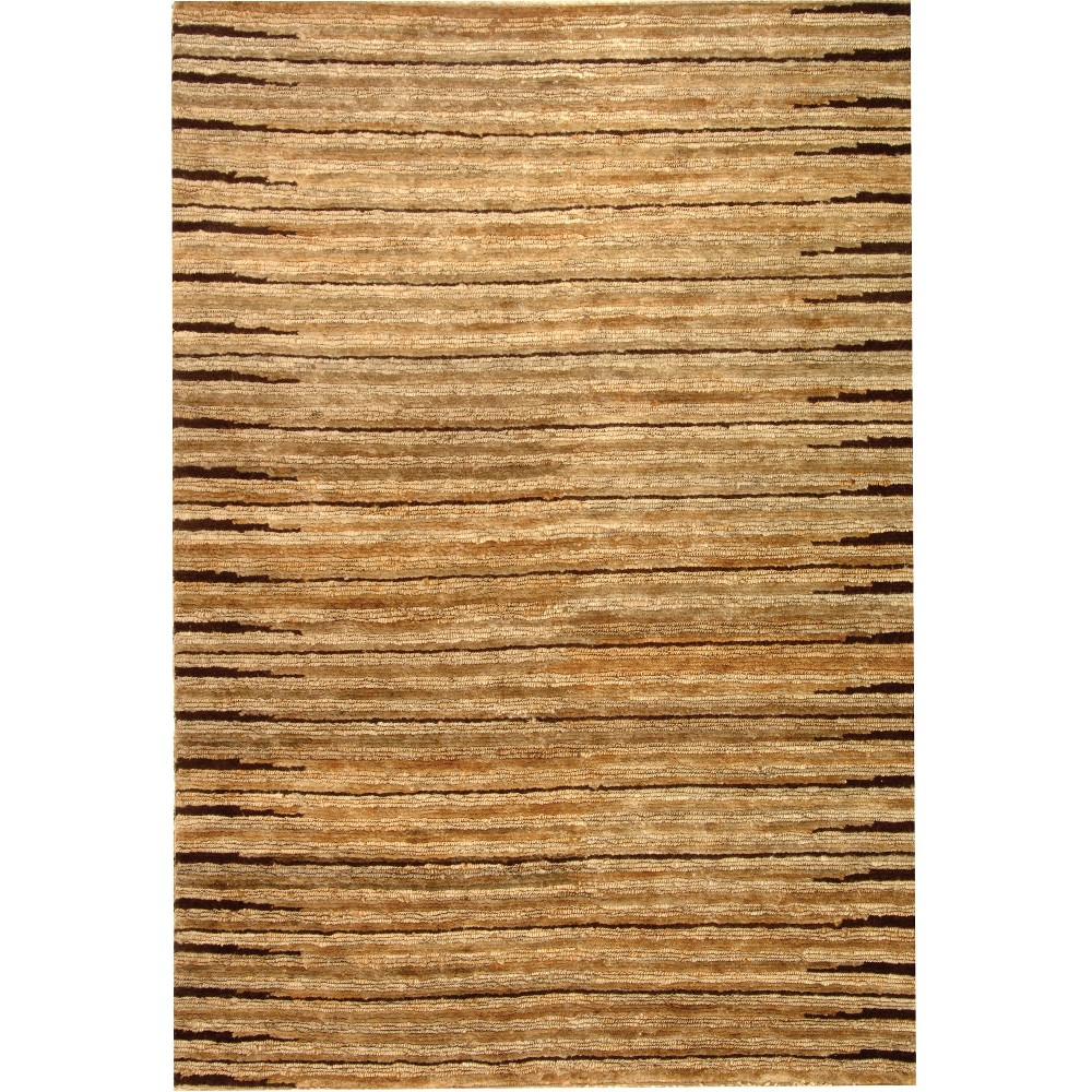 6'X9' Stripe Knotted Area Rug Light Gray - Safavieh, White