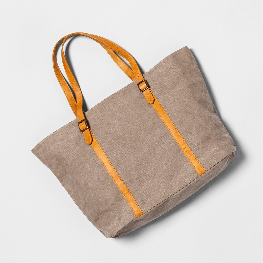 Large Tote Bag Gray - Hearth & Hand™ with Magnolia