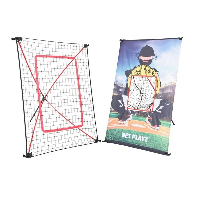 Net Playz 3' x 5' Jr Baseball/Softball Trainer Combo - Black