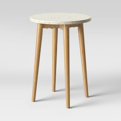 Arina Terrazo End Table White - Opalhouse™