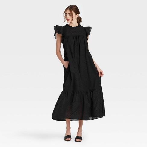 Women's Ruffle Short Sleeve Dress - Who What Wear™ - image 1 of 3