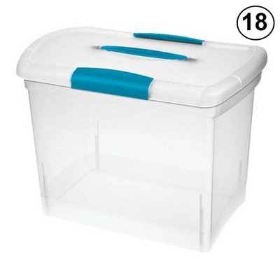 Sterilite Large Nesting ShowOffs Portable Clear File Box with Latches (18 Pack)