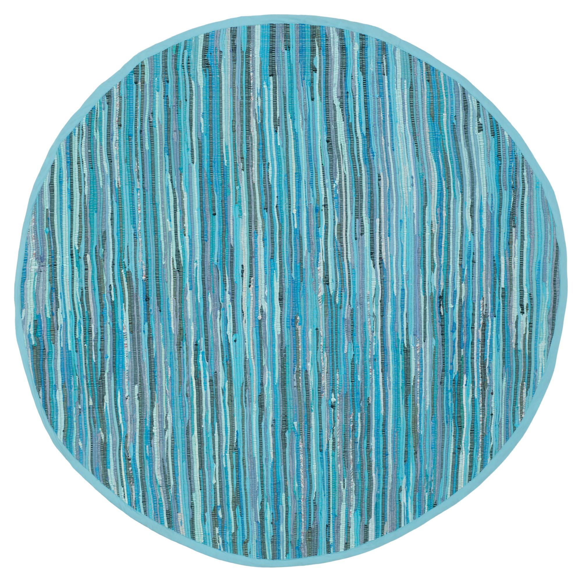 Huddersfield Accent Rug - Blue / Multi (4' Round) - Safavieh