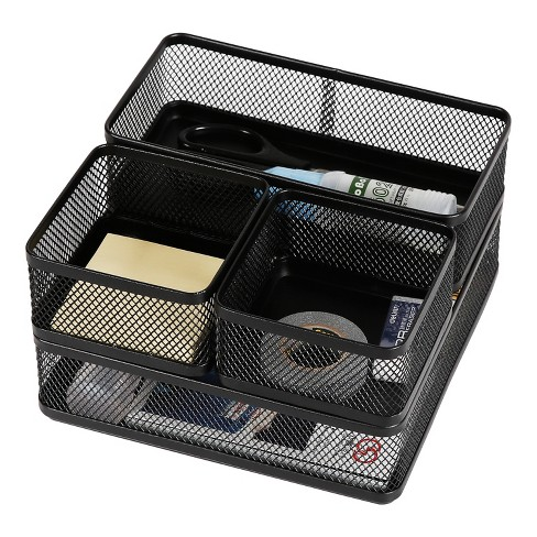 Mesh Desk Organizer Black - Made By Design™ - image 1 of 4