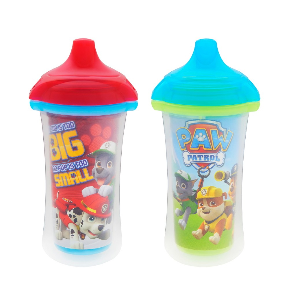 Munchkin Paw Patrol Click Lock 9oz Insulated Sippy Cup, 2 Pack, Red/Blue