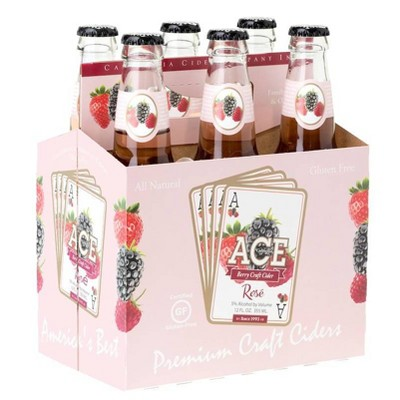 ACE Berry Rosé Hard Cider - 6pk/12 fl oz Bottles