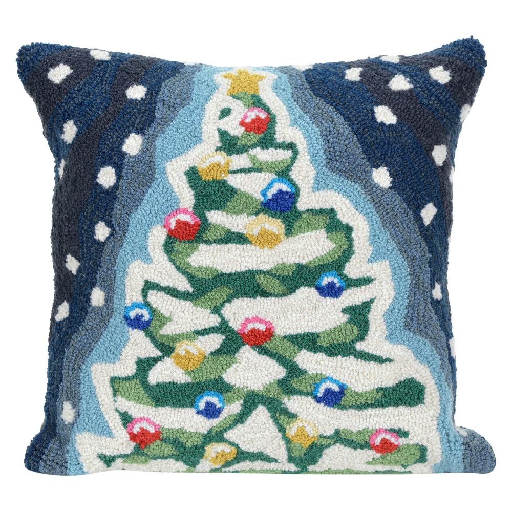 Image of Dark Blue Throw Pillow - Liora Manne