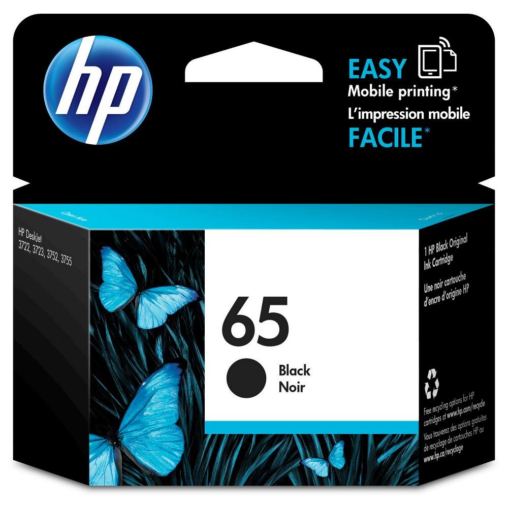 HP 65 Single Ink Cartridge - Black (N9K02AN#14), Black (65)