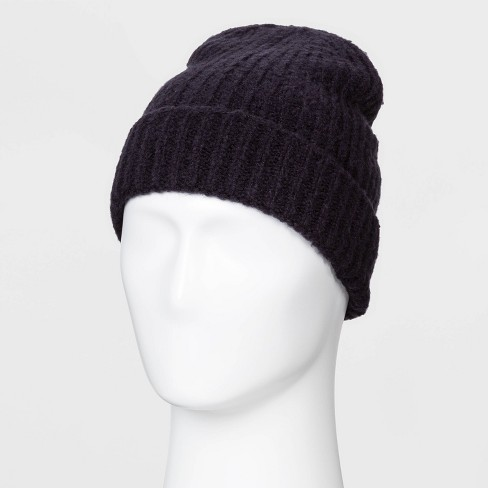 Men's Multi Ribbed Textured Knit Beanie - Goodfellow & Co™ Blue - image 1 of 1